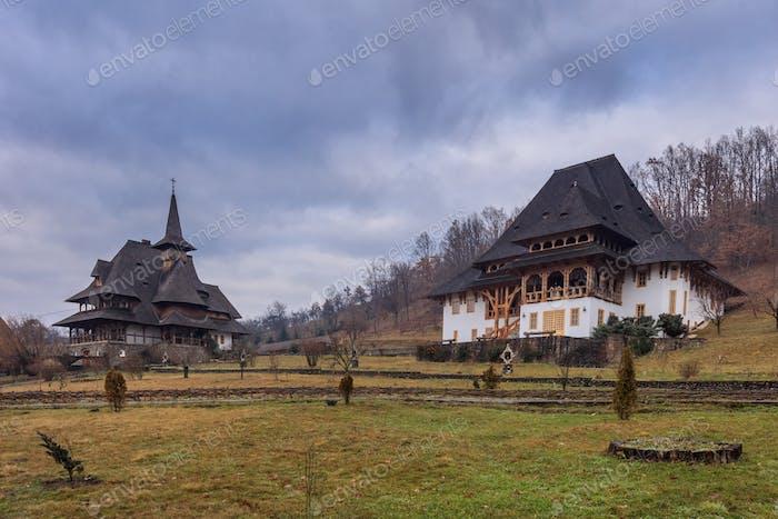 Barsana Monastery in Maramures, Romania.