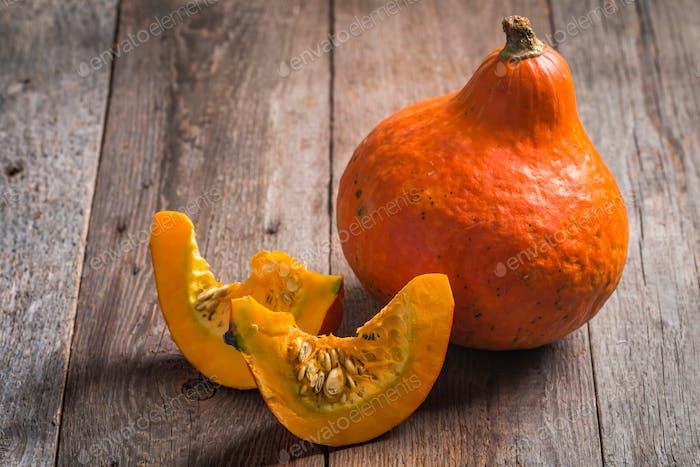Orange Pumpkins with pieces