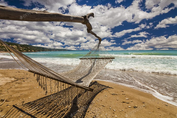 Hammock on the shore of the sea