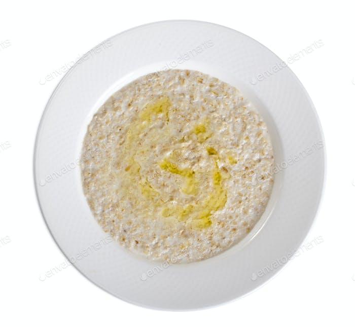 Delicious oatmeal porridge.