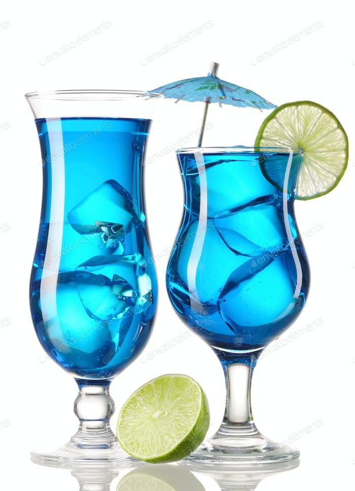 Blue Curacao cocktails