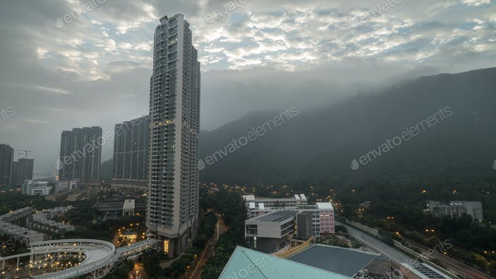Overcasting Hong Kong