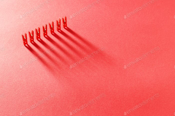 Red laudry clips
