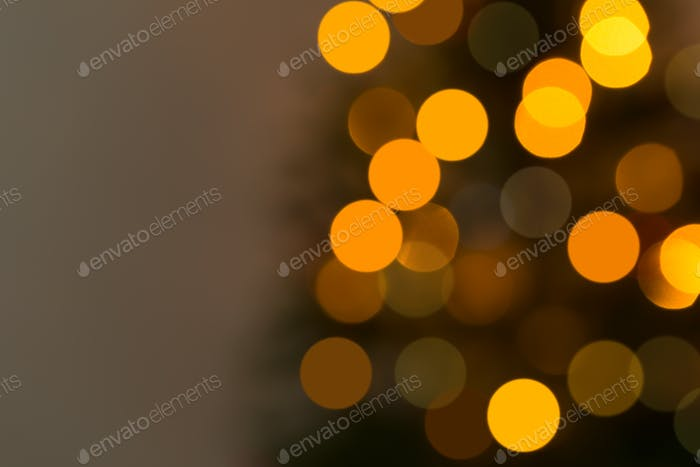 Bokeh background from Christmas tree