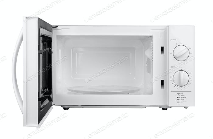 open microwave oven