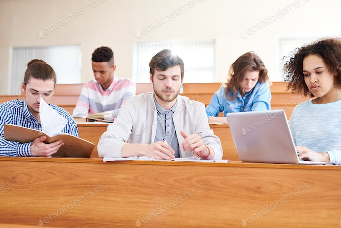 Students at lecture hall