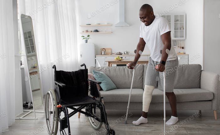 Surgery rehabilitation of bone and orthopaedic recovery, stay at home