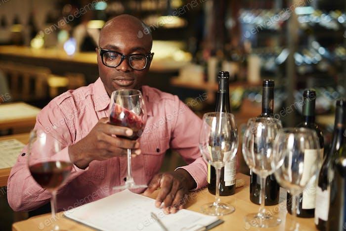 Bewertung von Wein