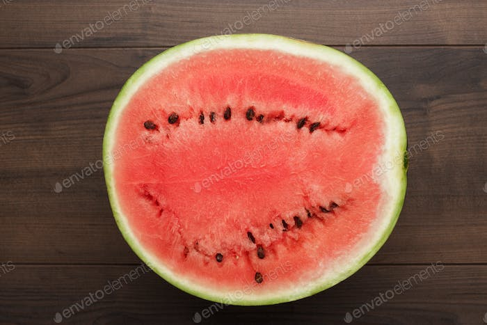 watermelon on the table