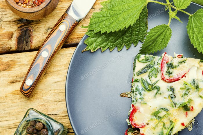 Italian omelet with herbs