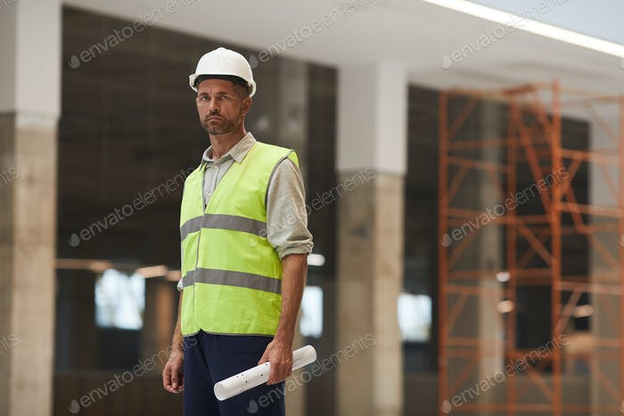 Professional Construction Worker on Site