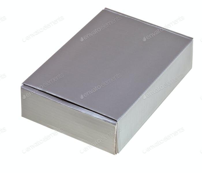 grey cardboard box