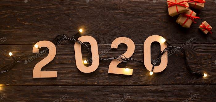 Neuanfänge mit 2020 Urlaubskonzept, Girlande mit Lichtern