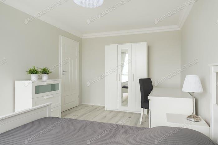 Desk in modern private room