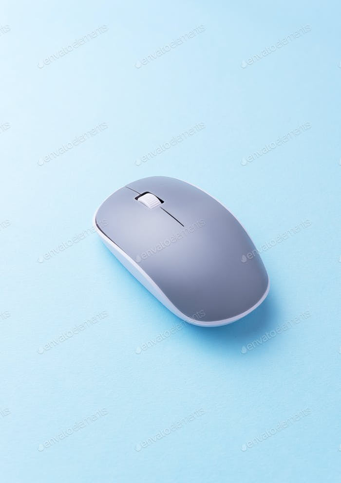 Gray computer mouse
