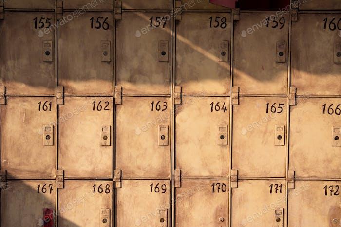 Old public lockers