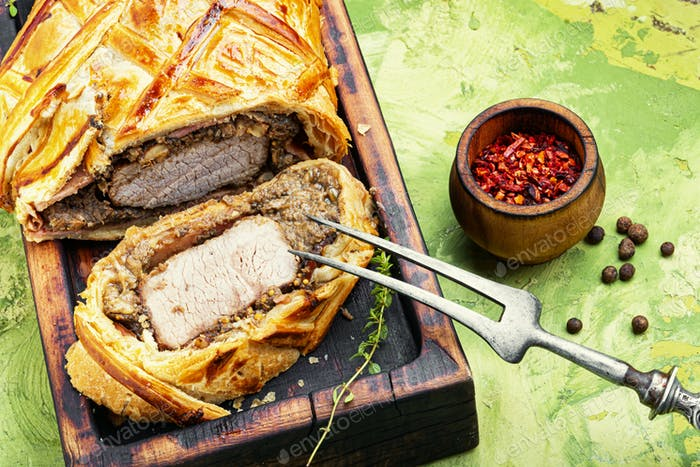 Homemade beef Wellington