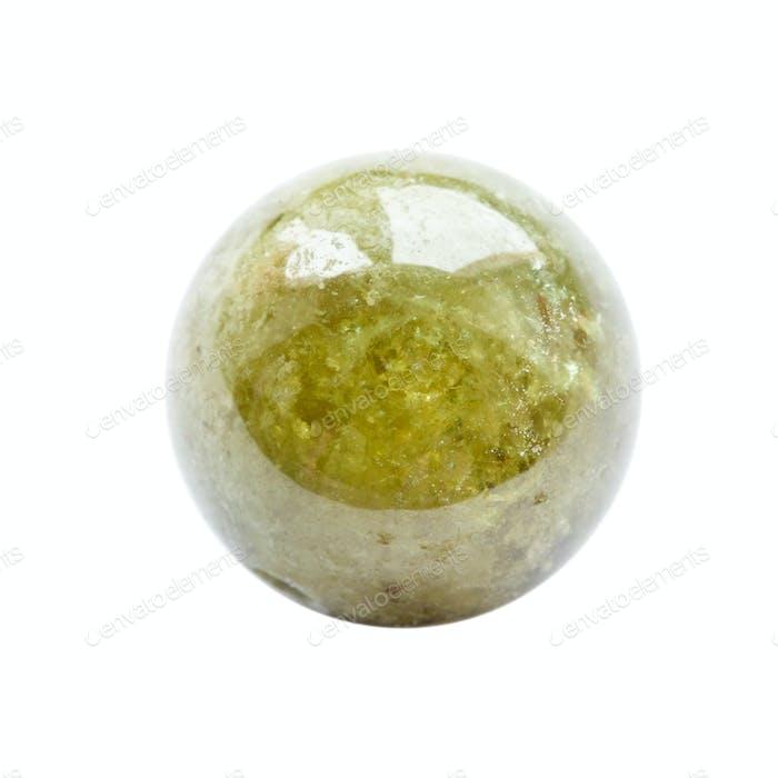 runde Perle aus Grossular (grüner Granat) Edelstein