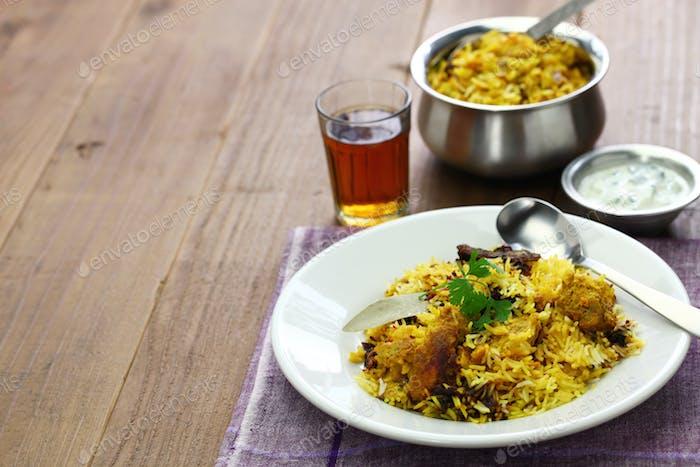 hyderabadi Huhn Biryani, indische Küche