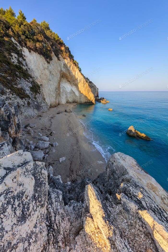little beach near Agios Nikitas. Lefkada, Greece