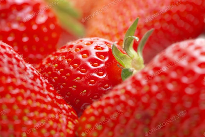 Macro of strawberry.