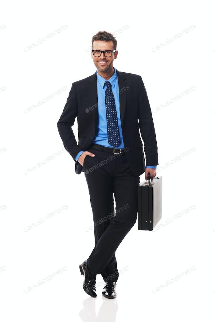 Porträt von intelligenten Geschäftsmann