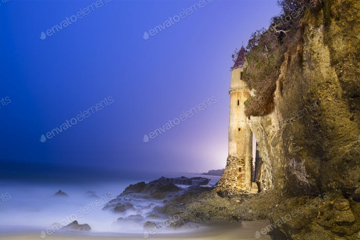 Lookout tower on beach