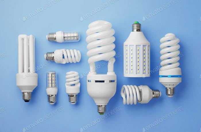 Sammlung von Glühbirnen