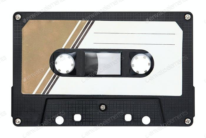 Black audio cassette