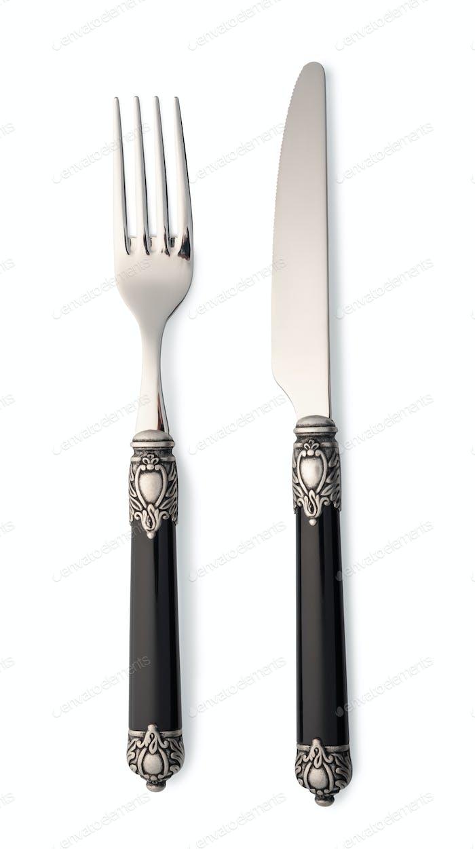 Besteckset mit Gabel und Messer