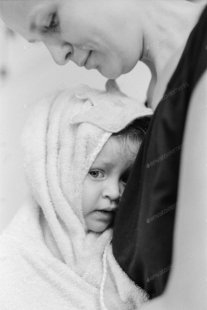 A baby after bath