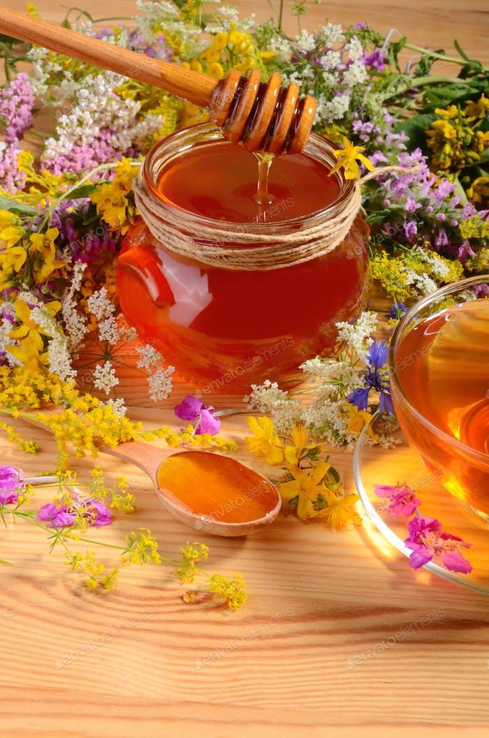 Honey with tea