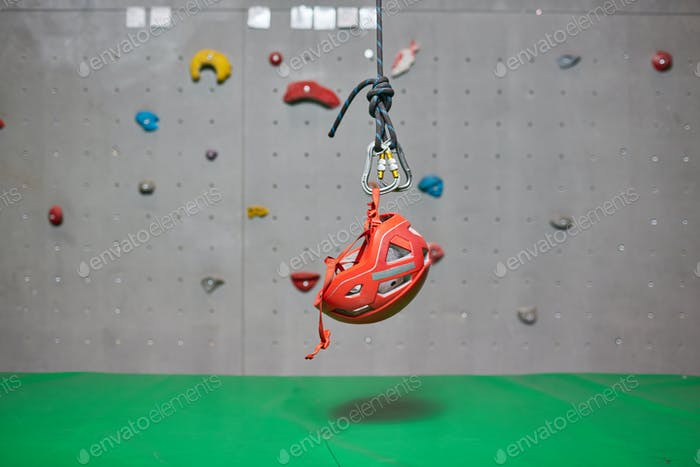 Helmet of climber
