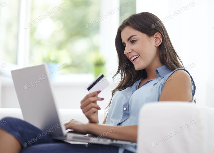 Paying by credit card is very comfortable