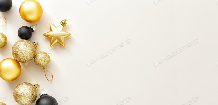 Minimalistische Weihnachten Flache Lay Hintergrund