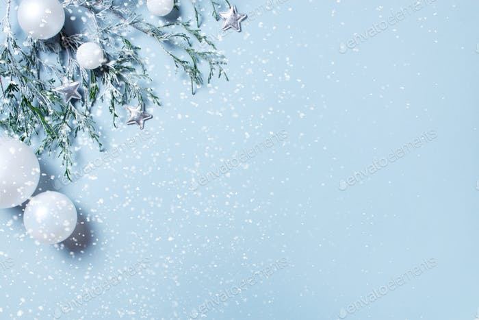 Blue Background for Winter Holidays