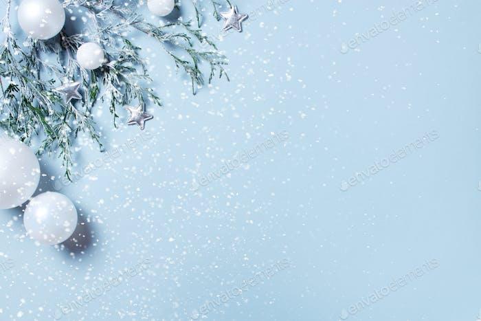 Fondo Azul para Vacaciones de Invierno