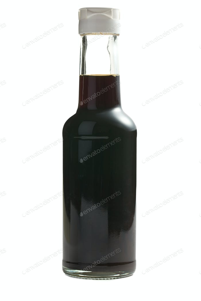 soy sauce in bottle