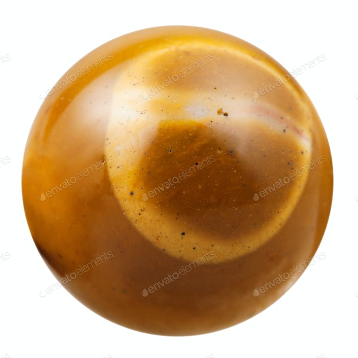 ball from brown natural mineral gem stone Mookaite