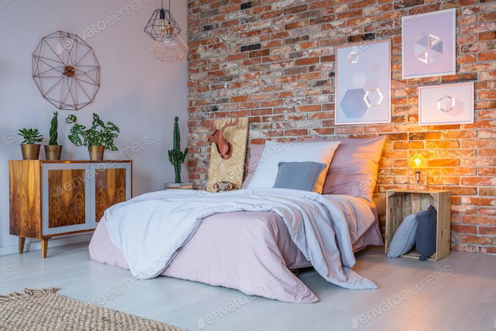 Industrial design of bedroom