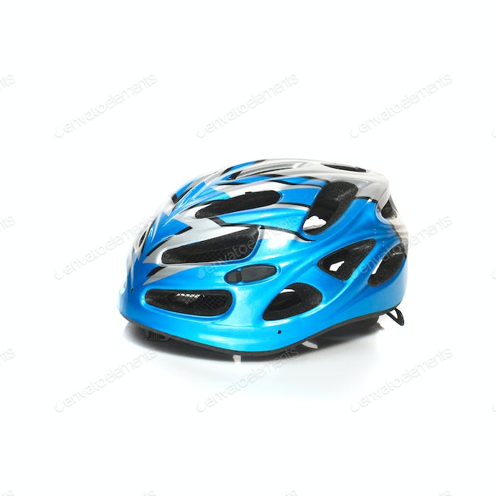 Bicycle mountain bike safety helmet isolated