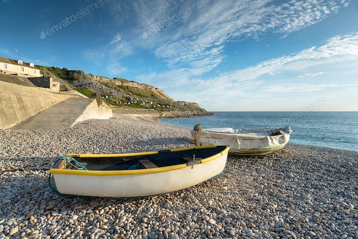 Boats at Chesil Cove