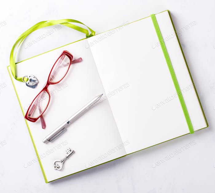 Thumbnail for Notebook with pen.Business Concept