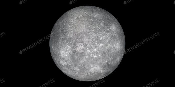 planet mercury black background