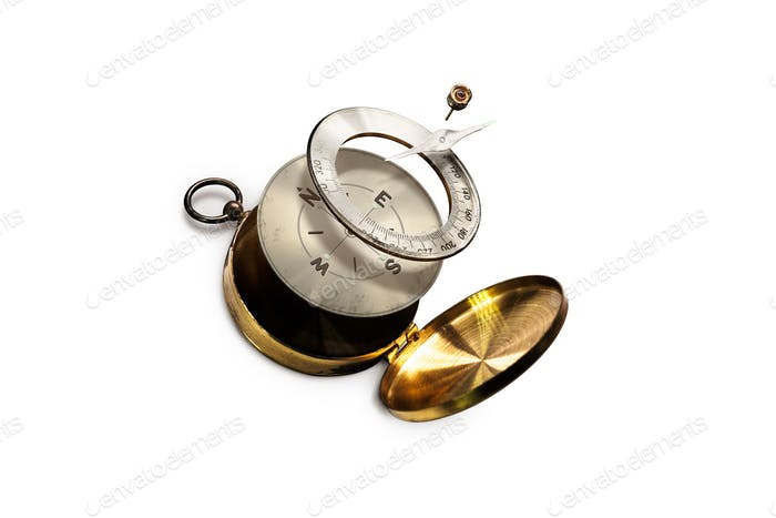Isolated image of Disintegrate Brass Compass