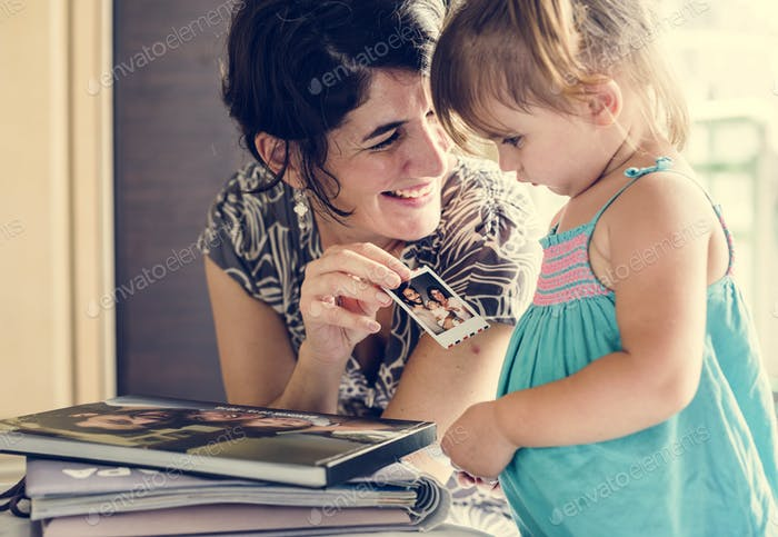 Mother and daughter quality time