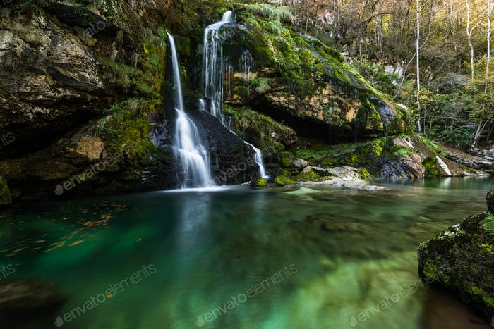 Virje waterfall in Slovenia