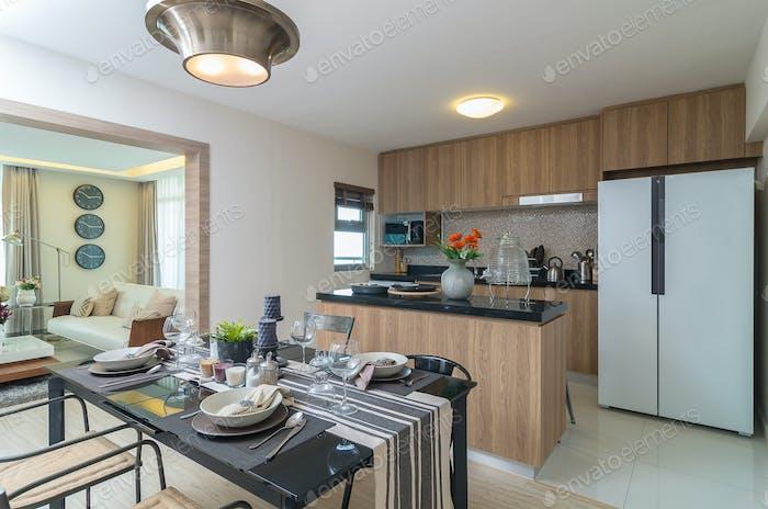 Luxury Interior kitchen, Dinning room