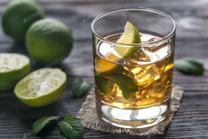 Glass of rum