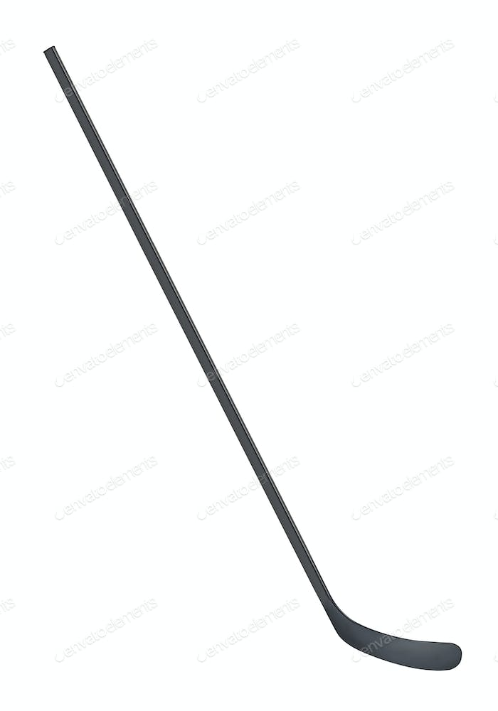 Ice hockey stick isolated on white